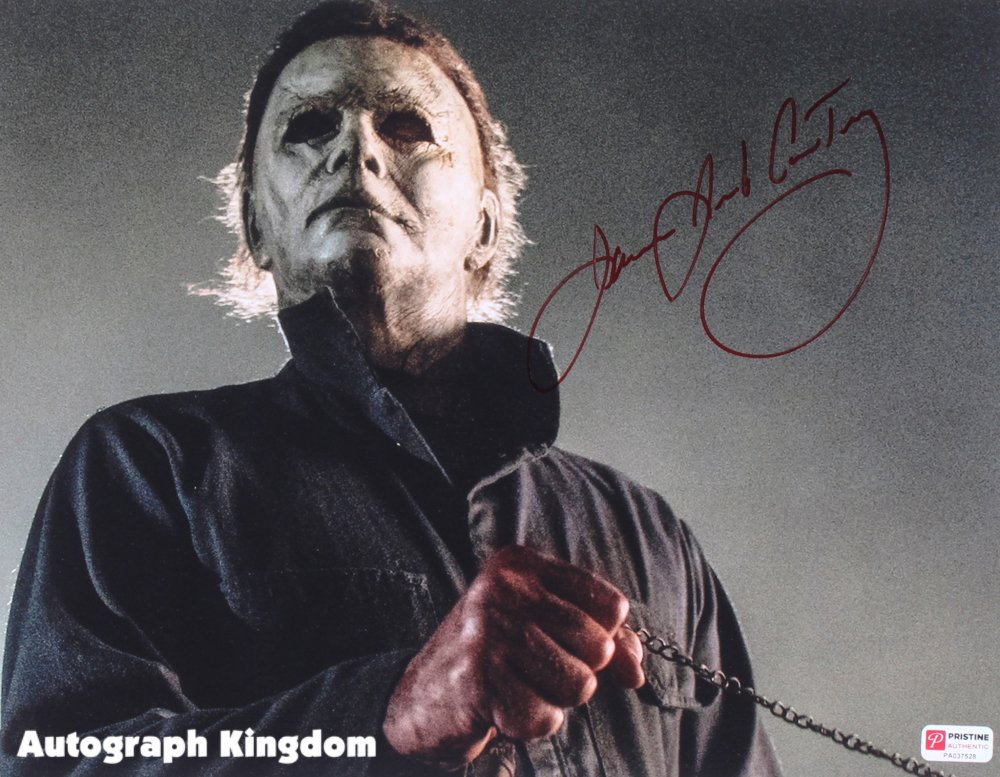 "James Jude Courtney Michael Myers Halloween 8 x 10"" Autographed Photo -(Reprint:1783)"