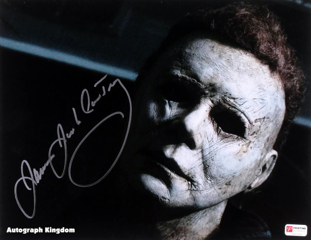 "James Jude Courtney Michael Myers Halloween 8 x 10"" Autographed Photo -(Reprint:1786)"
