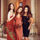"Charmed Cast x 3 Maire Combs, Milano & McGowan 8 x 10"" Autographed Photo (Reprint:1811)"