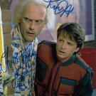 "Michael J Fox & Christopher Lloyd Back To The Future 8 x 10"" Autographed Photo - (Reprint 1812)"