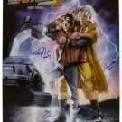 Back To The Future Cast x 5 Signed Photo: Fox, Wilson, Thomson, Lloyd, Gale  (Reprint 1817) FREE P+P