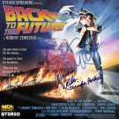 Back To The Future Cast x 4 Autographed Photo: Fox, Wells, Thomson, Lloyd - (Reprint 1818)