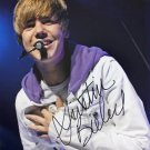"""Pop Star Justin Bieber: Purpose / Baby Baby / Sorry 8 x 10"""" Autographed Photo (Reprint :1434)"""
