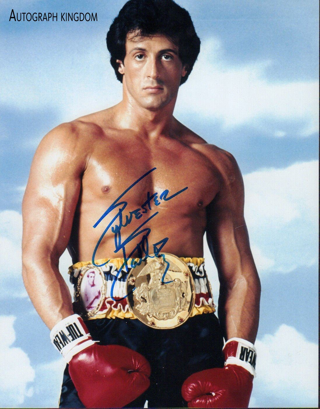 """Sylvester Stallone (Rocky. The Expendables) 8 x 10"""" Autographed Photo (Reprint:767)"""