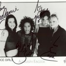 "The Spice Girls 8 X 10"" Autographed Photo Emma, Mel C, Mel B, Victoria (Reprint:1821)"