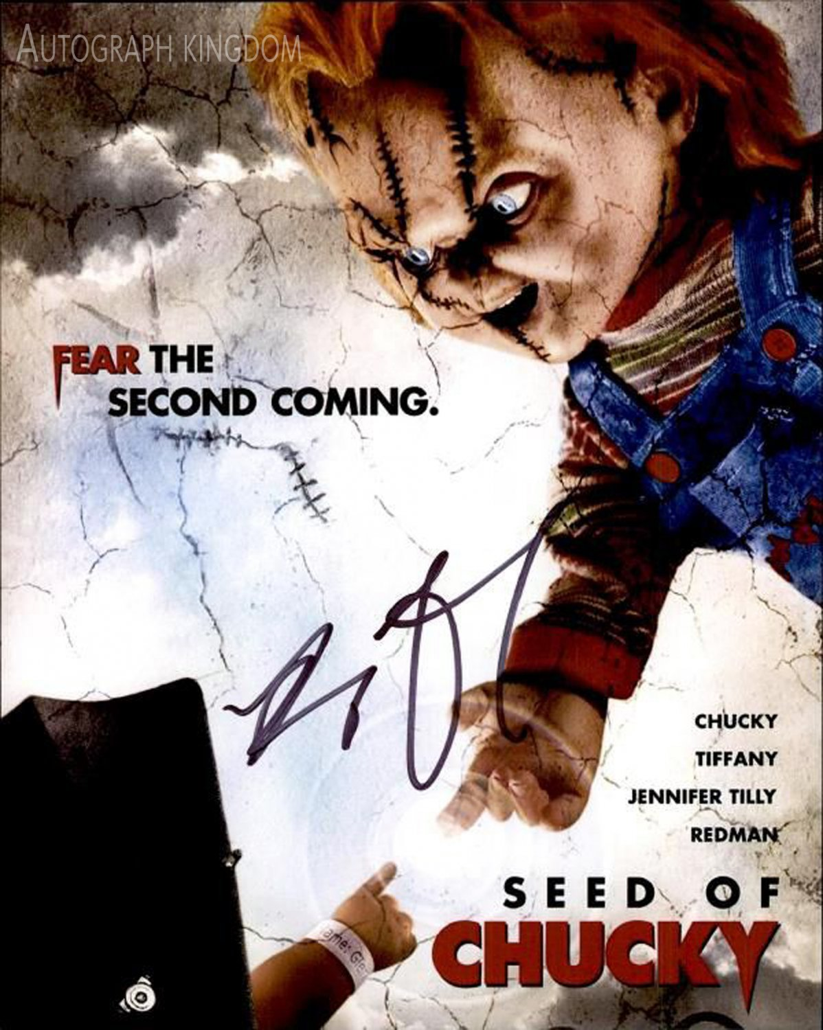 The Seed of Chucky A4 Movie Poster Signed by Brad Dourif (Reprint 1833) FREE SHIPPING
