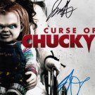"""Curse Of Chucky laminated 8 x 10"""" Movie Poster signed by Brad Dourif & Jennifer Tilly (Reprint 1835)"""