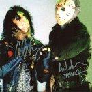 "Ari Lehman & Alice Cooper Dual 8 x 10"" Autographed Photo (Reprint :F1344) FREE SHIPPING"