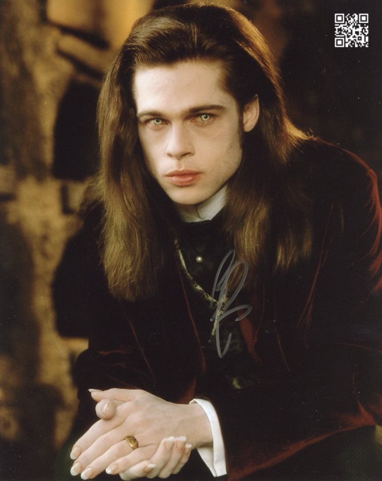 """Brad Pitt (An Interview With A Vampire) 8 x 10""""  Signed / Autographed Photo (Reprint 1879)"""