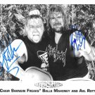 """Chair Swinging Freaks"" Balls Mahoney & Axl Rotten 8 x 10"" Autographed Photo (Reprint 1906)"