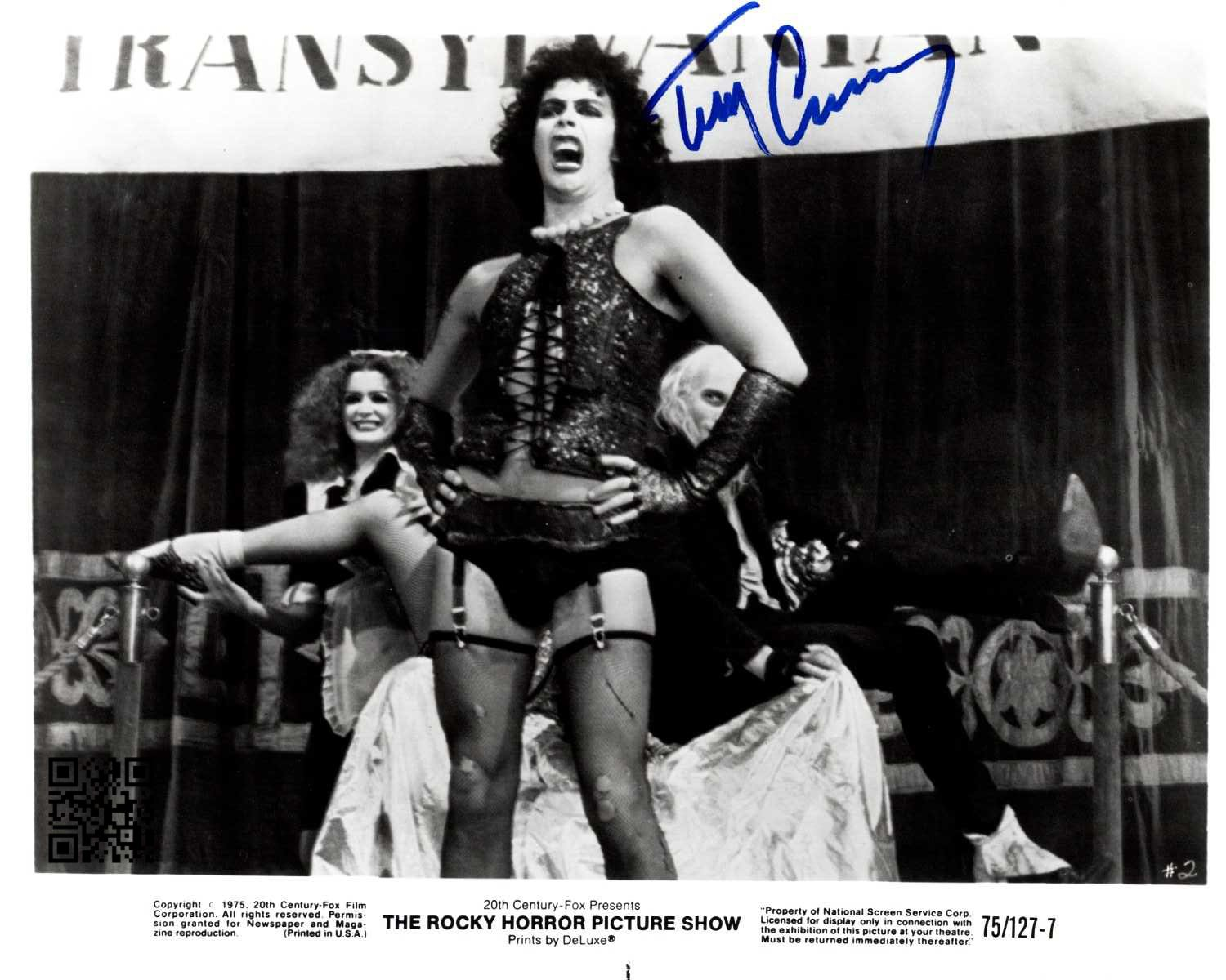 """Tim Curry 8 x 10"""" Autographed Photo: The Rocky Horror Picture Show (Reprint:1933) Great Gift Ideal"""
