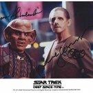 Rene Auberjonois & Armin Shimerman Star Trek Deep Space Nine Autographed Photo (Reprint 1946)