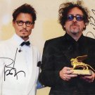 Genuine Hand Signed Tim Burton & Johnny Depp Photo + C.O.A