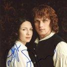 "Caitriona Balfe & Sam Heughan (Outlander) 8 X 10"" Autographed Photo (Reprint:1989)"