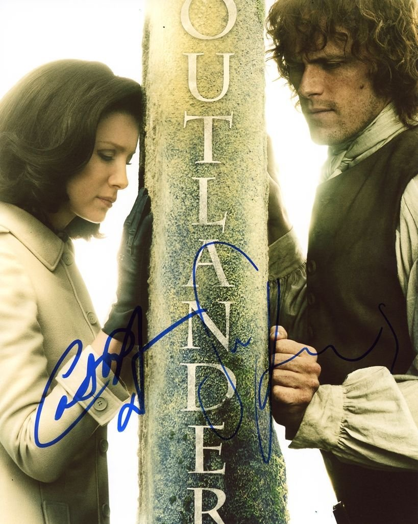 "Caitriona Balfe & Sam Heughan (Jamie & Claire Outlander) 8 X 10"" Autographed Photo (Reprint:1991)"