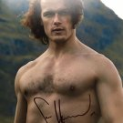 "Sam Heughan Topless (Jamie Fraser from Outlander) 8 x 10""Signed /Autographed Photo (Reprint:1994)"