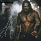 "Jason Momoa 8 x 10"" Autographed Photo (Aqua Man /Games of Thrones / See : Reprint :2000)"