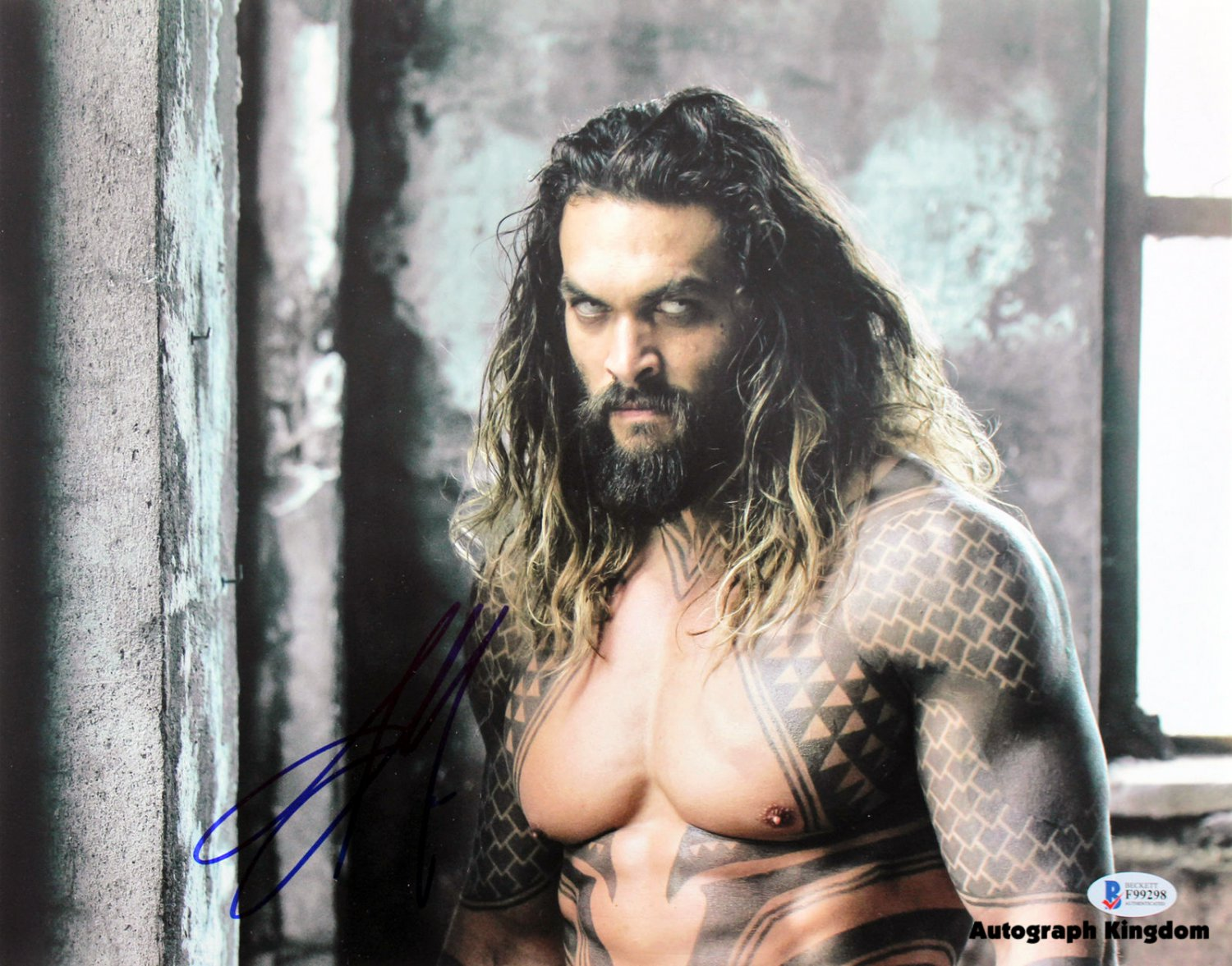 "Jason Momoa 8 x 10"" Autographed Photo (Games of Thrones Reprint :2002) FREE SHIPPING"