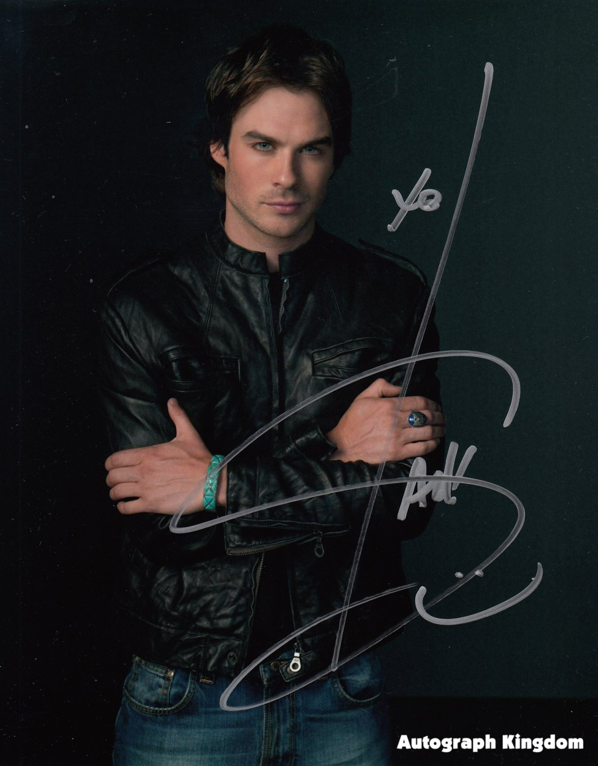 "Ian Somerhalder (Daemon Salvatore) The Vampire Diaries  8 x 10"" Autographed Photo - (Reprint:1096)"