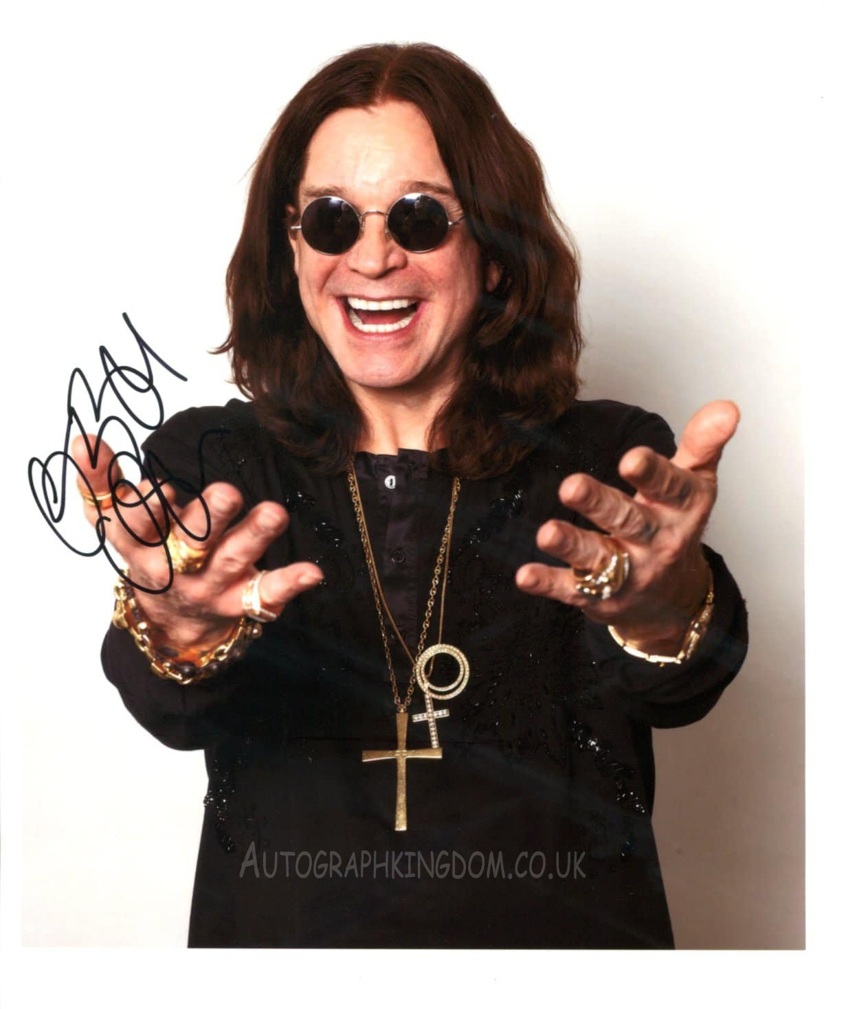 """Ozzy Osbourne The Prince of Darkness 8 x 6"""" Autographed Photo (Reprint: 2021) FREE SHIPPING"""