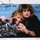"Ozzy Osbourne & Zakk Wild Dual Signed 8 x 10"" Autographed Photo (Reprint: 2024)"