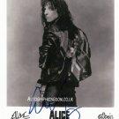 "Alice Cooper 8 x 10"" Autographed Photo (Reprint: 2030)"