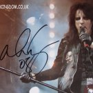 "Alice Cooper 8 x 10"" Autographed / Signed Photo (Reprint: 2042)"