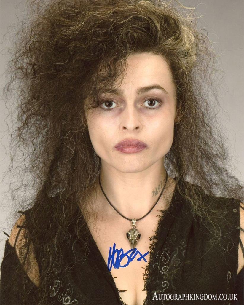 "Helena Bonham Carter 8 x 10"" Autographed Photo Bellatrix Lestrange Harry Potter (Reprint 2128)"