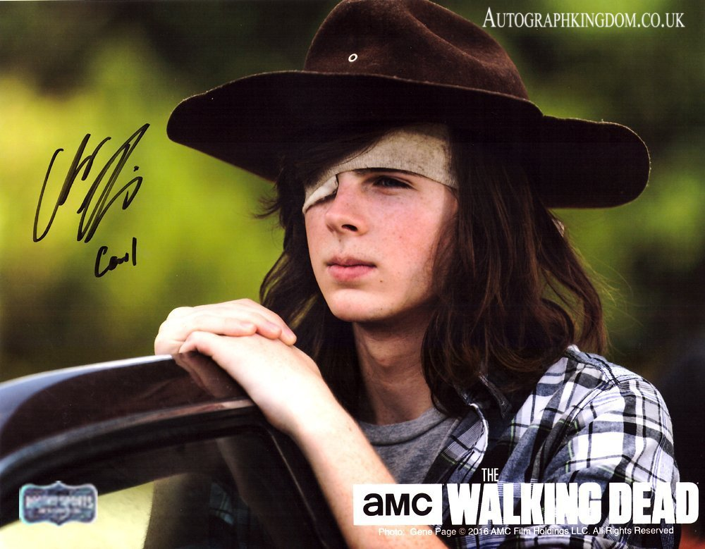 """Chandler Riggs The Walking Dead Awesome 8 x 10"""" Signed /Autographed Photo (Reprint 2128)"""