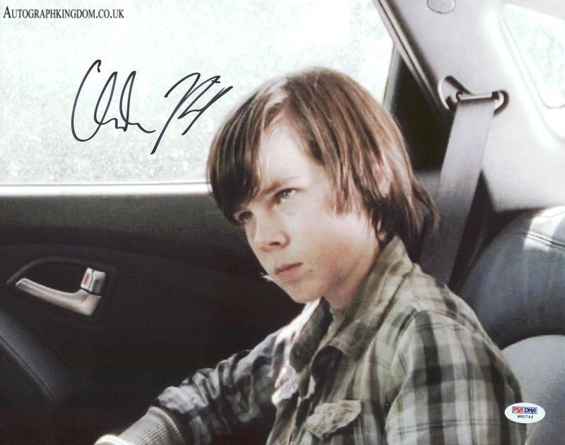 """Chandler Riggs The Walking Dead 8 x 10"""" Signed /Autographed Photo (Reprint 2130) Great Gift Idea!"""