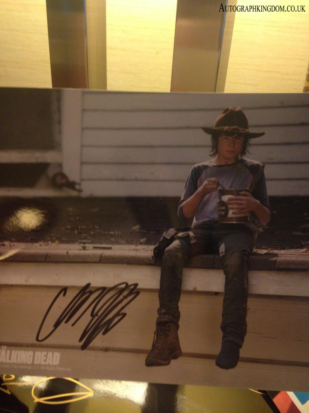 "Chandler Riggs The Walking Dead 8 x 10"" Autographed Photo (Reprint 2134) FREE SHIPPING"