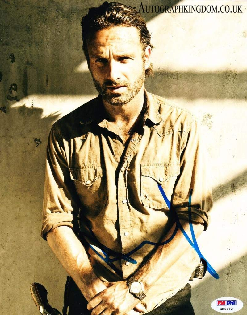 """Andrew Lincoln The Walking Dead 8 x 10"""" Autographed Photo (Reprint 2136) FREE SHIPPING"""