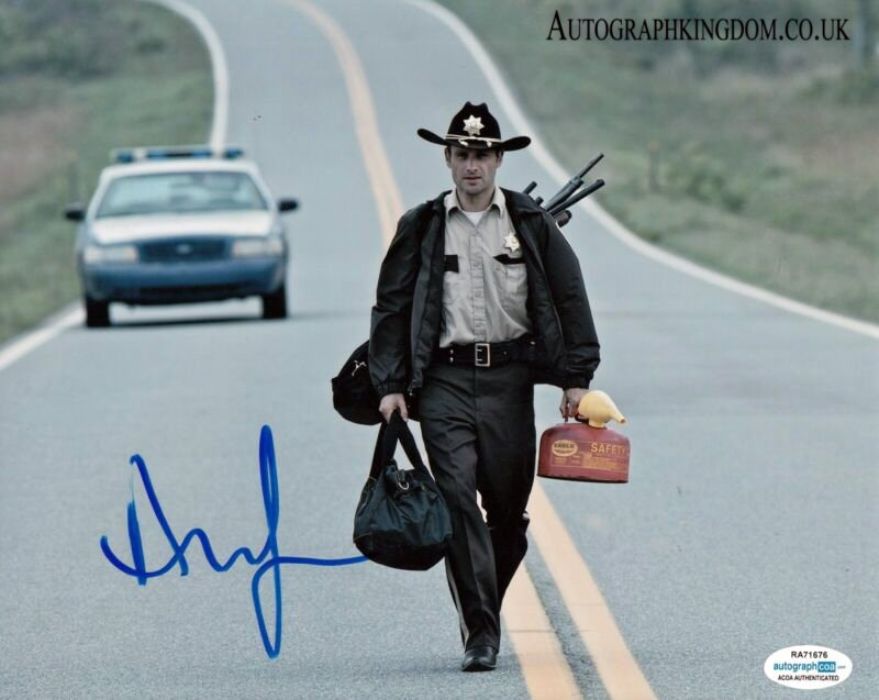 """Andrew Lincoln The Walking Dead 8 x 10"""" Autographed Photo (Reprint 2137) FREE SHIPPING"""