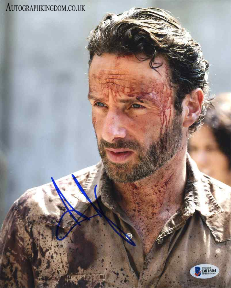 "Andrew Lincoln The Walking Dead 8 x 10"" Autographed Photo (Reprint 2138) FREE SHIPPING"
