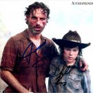 """Andrew Lincoln & Chandler Riggs The Walking Dead 8 x 10"""" Autographed Photo (Reprint 2138)"""