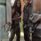 "Andrew Lincoln & Dania Gurira The Walking Dead 8 x 10"" Autographed Photo (Reprint 2139)"