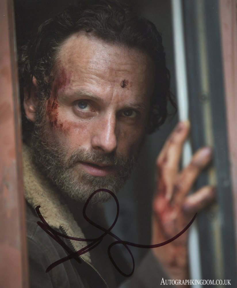"""Andrew Lincoln The Walking Dead 8 x 10"""" Autographed Photo (Reprint 2141) FREE SHIPPING"""