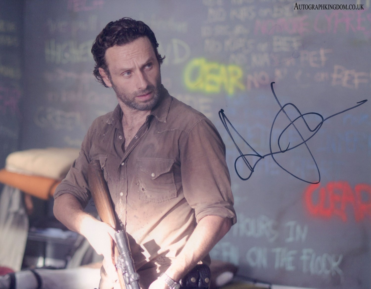 """Andrew Lincoln The Walking Dead 8 x 10"""" Autographed / Signed Photo (Reprint 2142) Great Gift Idea!"""