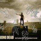 "The Walking Dead Cast 7 Signatures 12 x 10"" Signed/ Autographed Photo (Reprint 2144)"