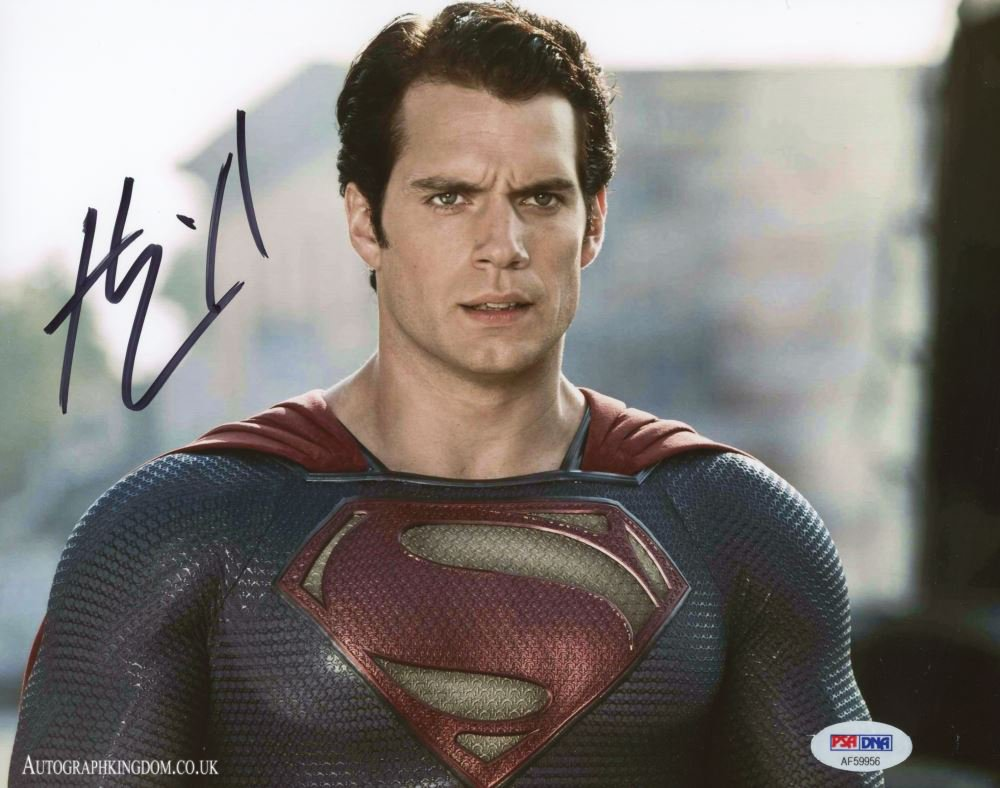 "Henry Cavill 8 x 10"" Superman Man of Steel / The WitcherAutographed Photo (Reprint 2147)"