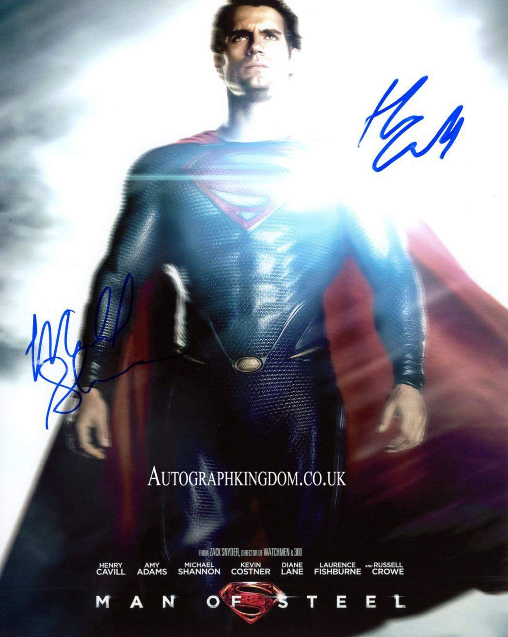 "Henry Cavill & Michael Shannon Superman Man of Steel 8 x 10"" Autographed Photo (Reprint 2150)"