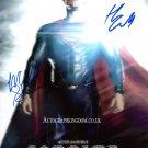 "Henry Cavill & Michael Shannon Superman Man of Steel  x 10"" Autographed Photo (Reprint 2150)"