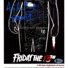 "Ari Lehman (Jason 1) 12 x 8"" Autographed Poster Print Friday The 13th (Reprint:1762)"