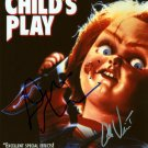 "Child's Play (1988) 8 x 10"" Movie Poster Print Signed by Brad Dourif & Alex Vincent (Reprint:1762)"