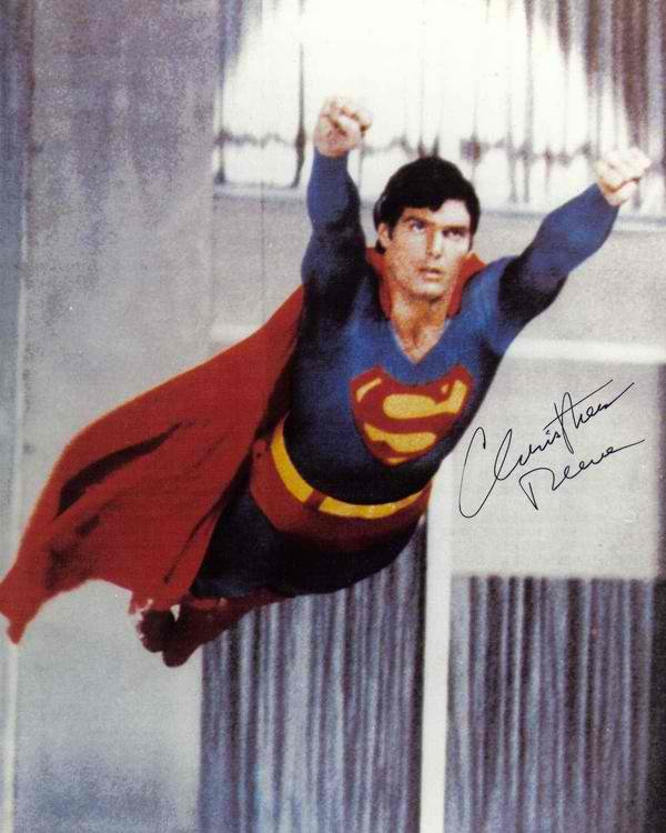 """Christopher Reeve Superman 8 x 10"""" Autographed / Signed Photo (Reprint:2076) Great Gift Idea!"""