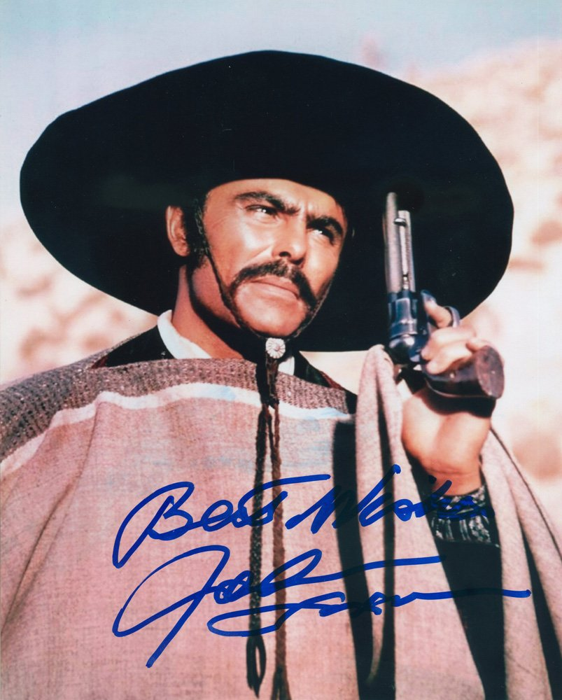 "John Saxon 8 x 10"" Autographed Photo Kid Joe (1972) / Enter The Dragon (Reprint:1121)"