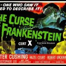 The Curse Of Frankenstein (1957) Vintage A4 Laminated Movie Poster Print Horror Wall Art