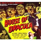 House Of Dracula (1945) Vintage A4 Laminated Movie Poster Print Horror Wall Art