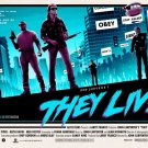 John Carpenters They Live (1988) Laminated A4 Movie Poster Art Print Roddy Piper.