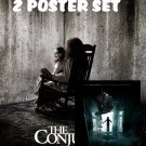 The Conjuring 1 & 2 Movie Poster Set: 2 A4 Laminated A4 Movie Posters Art Print.